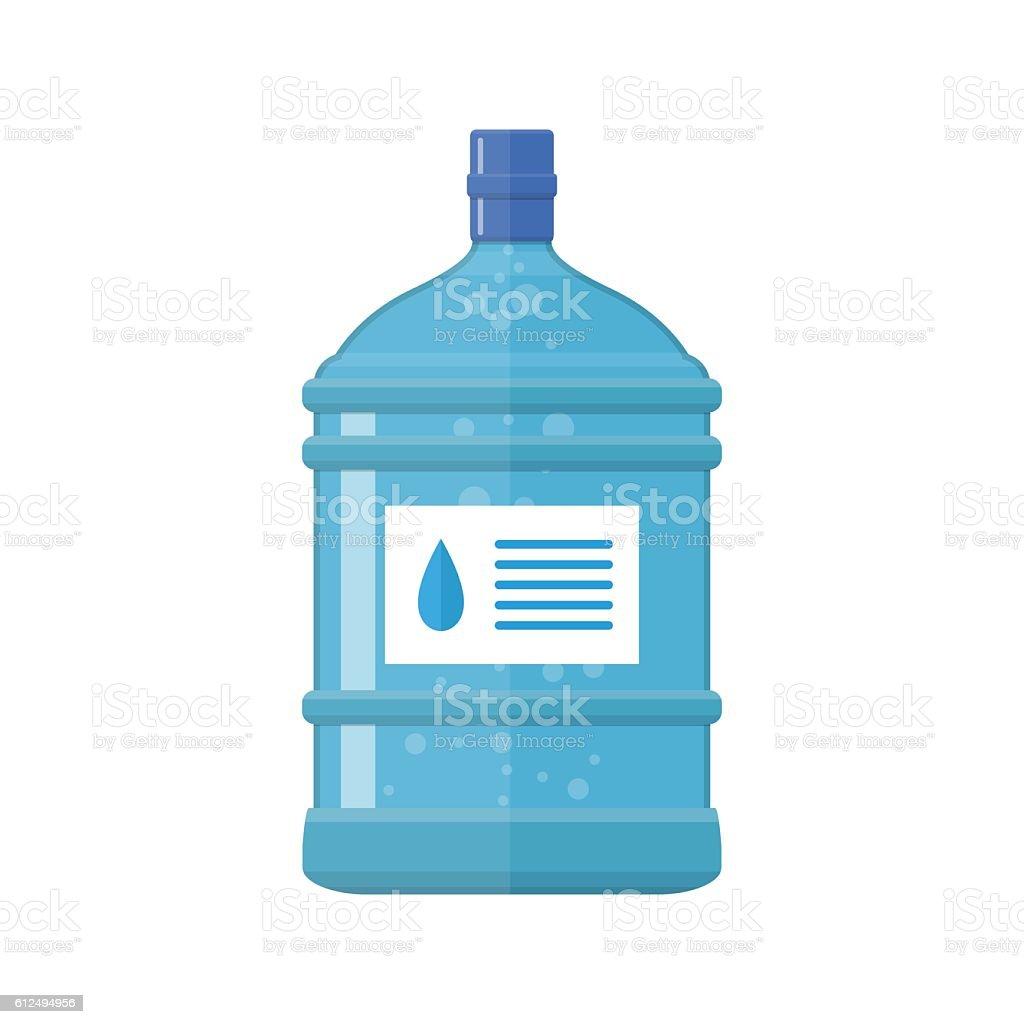 Office plastic bottle for water cooler, vector art illustration