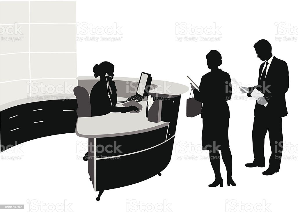 Office Reception Vector Silhouette royalty-free office reception vector silhouette stock vector art & more images of adult