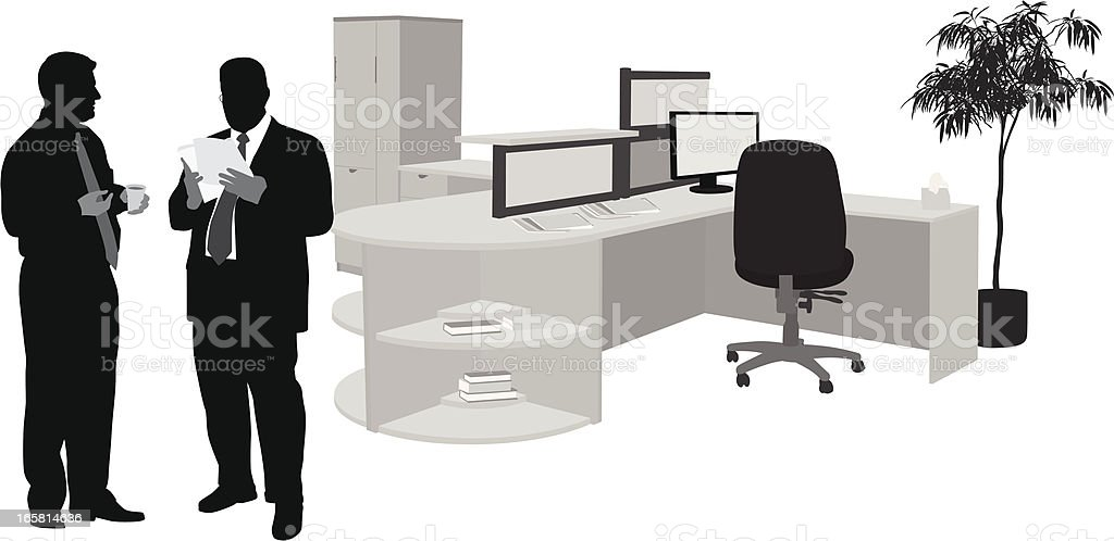 Office Set Vector Silhouette royalty-free office set vector silhouette stock vector art & more images of adult