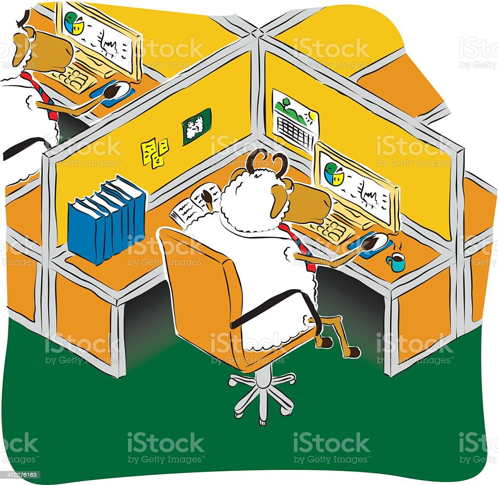 Office Sheep royalty-free office sheep stock vector art & more images of agriculture