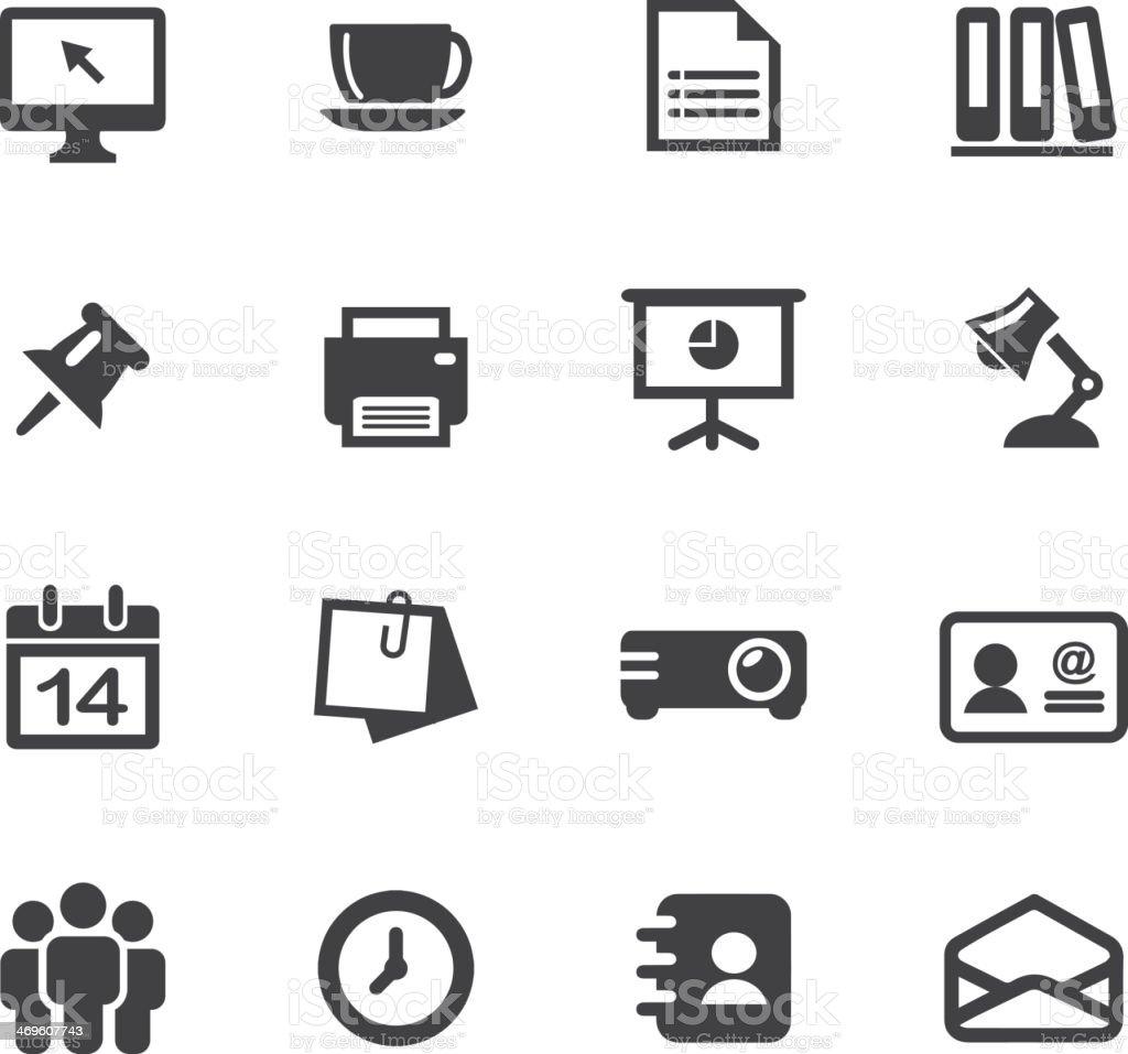 Buro Silhouette Icons 1 Stock Vektor Art Und Mehr Bilder Von