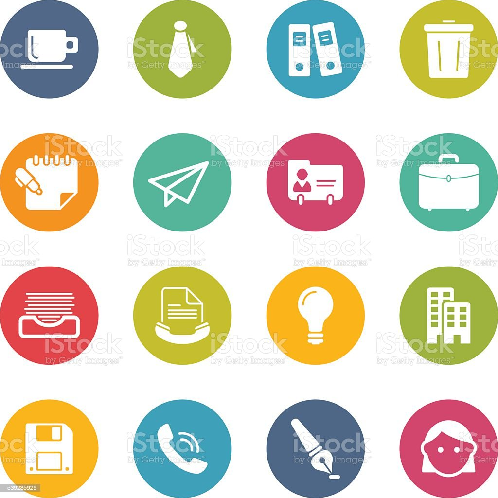 Office - Simple Icons royalty-free office simple icons stock vector art & more images of 2015
