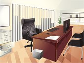 Vector illustration of office space. Easy to edit EPS 8.