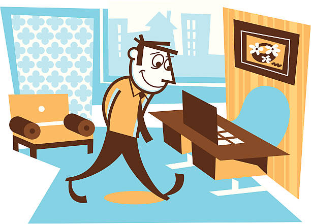 office space - peter bajohr stock illustrations