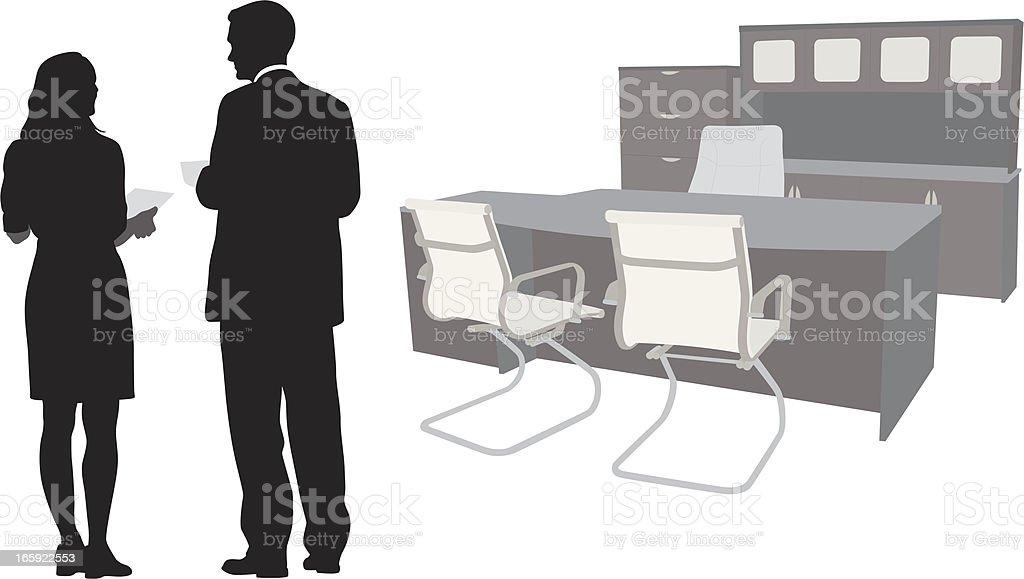 Office Space Vector Silhouette vector art illustration