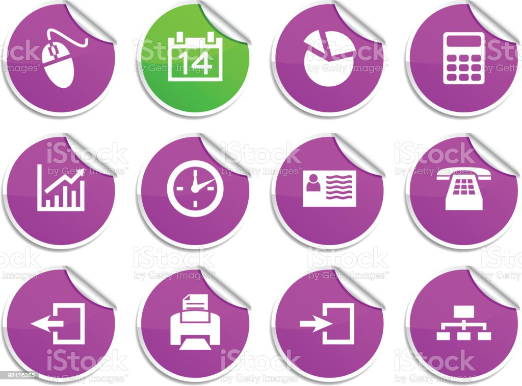 Office stickers. royalty-free office stickers stock vector art & more images of business