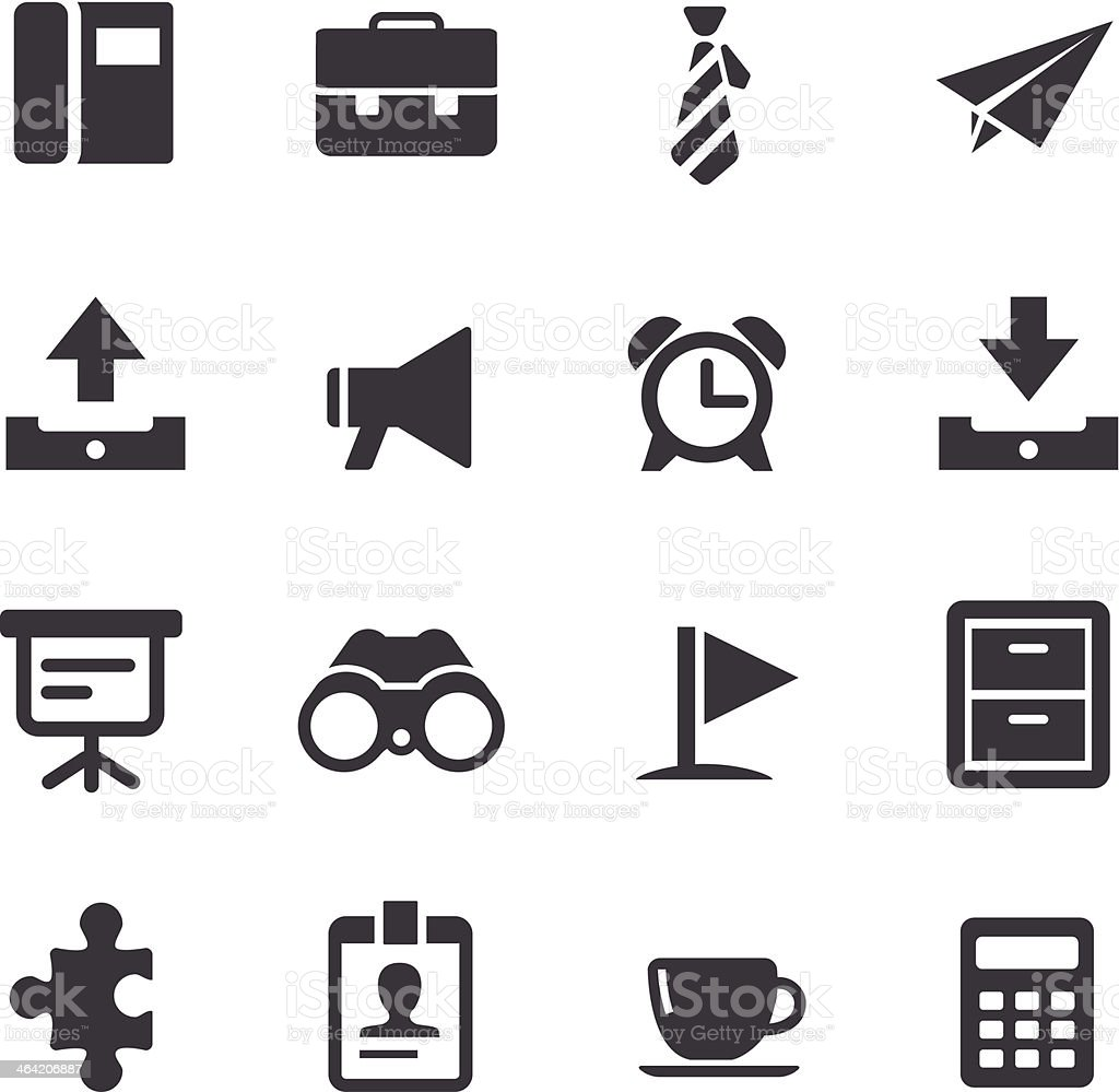 Office Stuff Icons - Acme Series vector art illustration