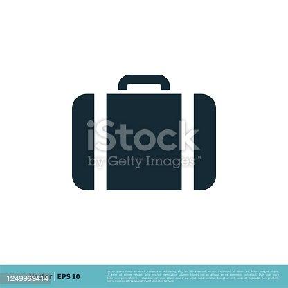 Office Suitcase Icon Vector Logo Template Illustration Design. Vector EPS 10.