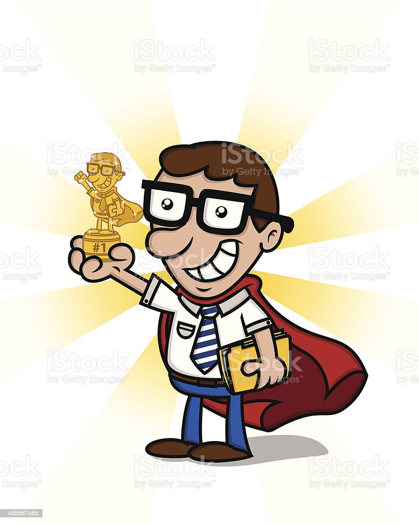 Office superhero award royalty-free office superhero award stock vector art & more images of achievement