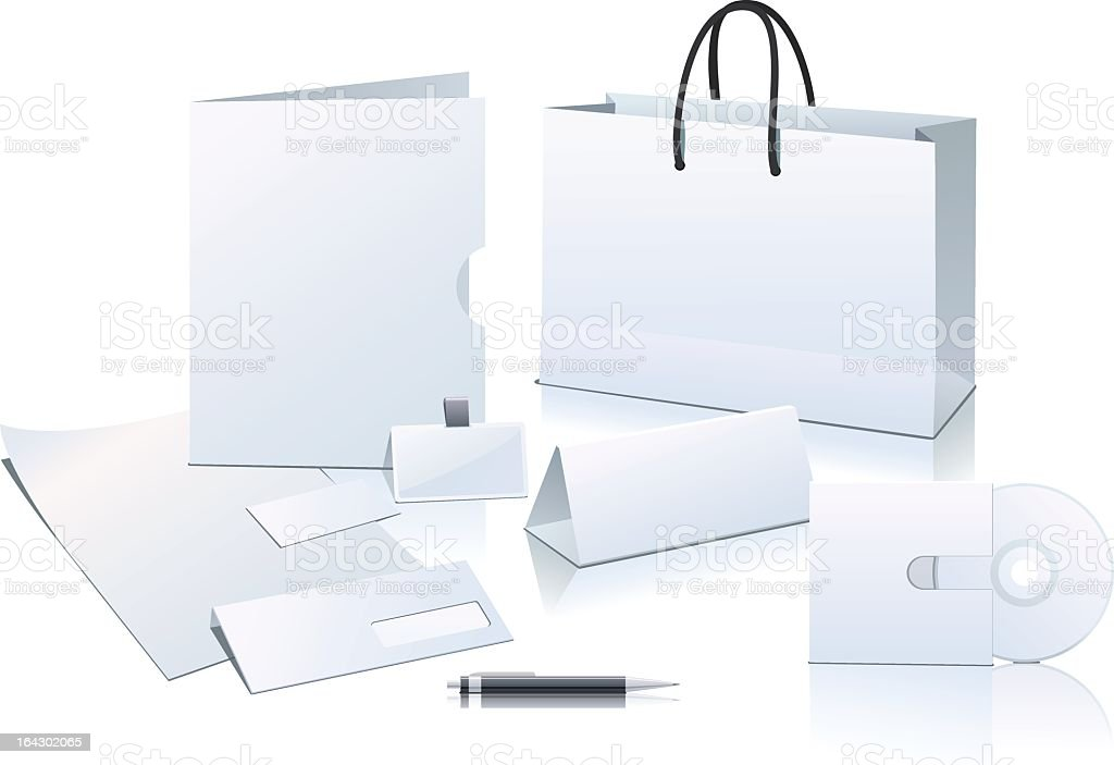 Office supplies against white background royalty-free office supplies against white background stock vector art & more images of badge