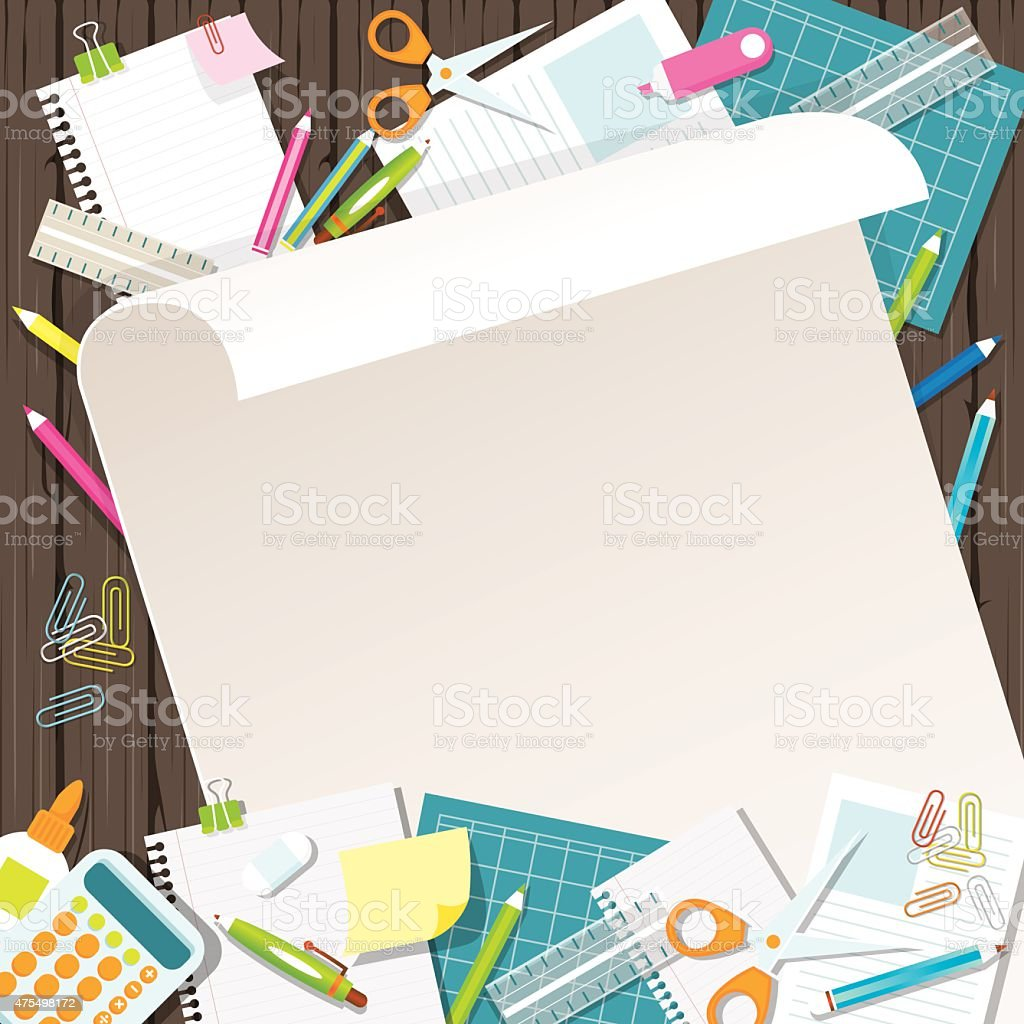 office supplies background