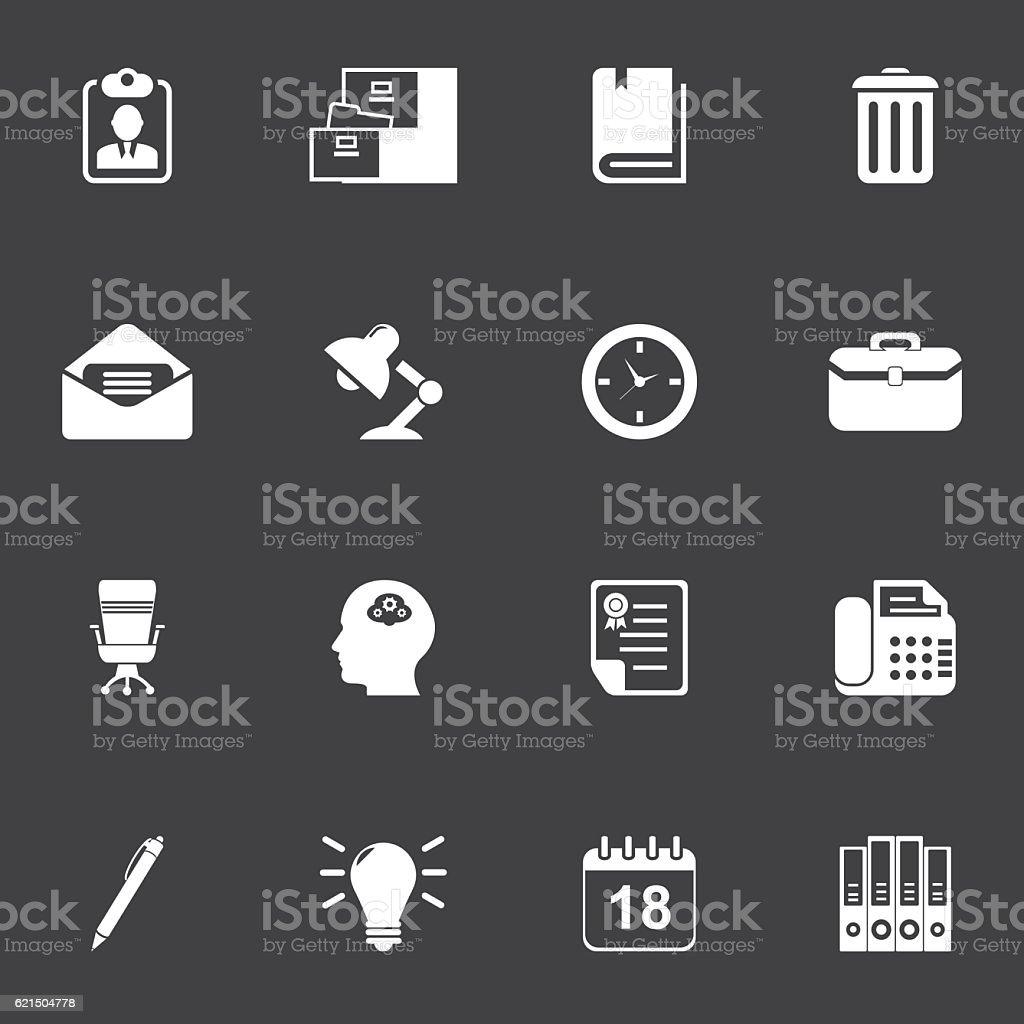 Office Supplies Icon Set Lizenzfreies office supplies icon set stock vektor art und mehr bilder von akten ablegen