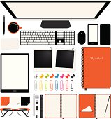 Vector Office desk supplies (EPS 10)