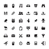 Office Supply and Paperwork related symbols and icons.
