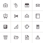 Office Supply Icons 2 — Inky Series