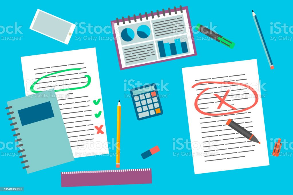 Office supply vector elements royalty-free office supply vector elements stock vector art & more images of audit