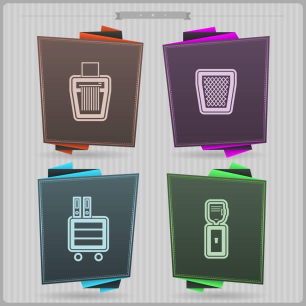 office supply - schrankkorb stock-grafiken, -clipart, -cartoons und -symbole