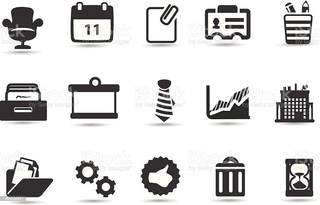 Office Symbols royalty-free office symbols stock vector art & more images of black and white