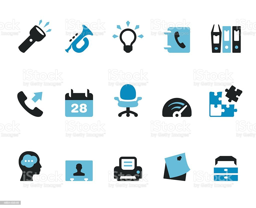 Office teamwork / Coolico icons vector art illustration