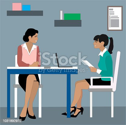 Business meeting around table concept illustration vector.