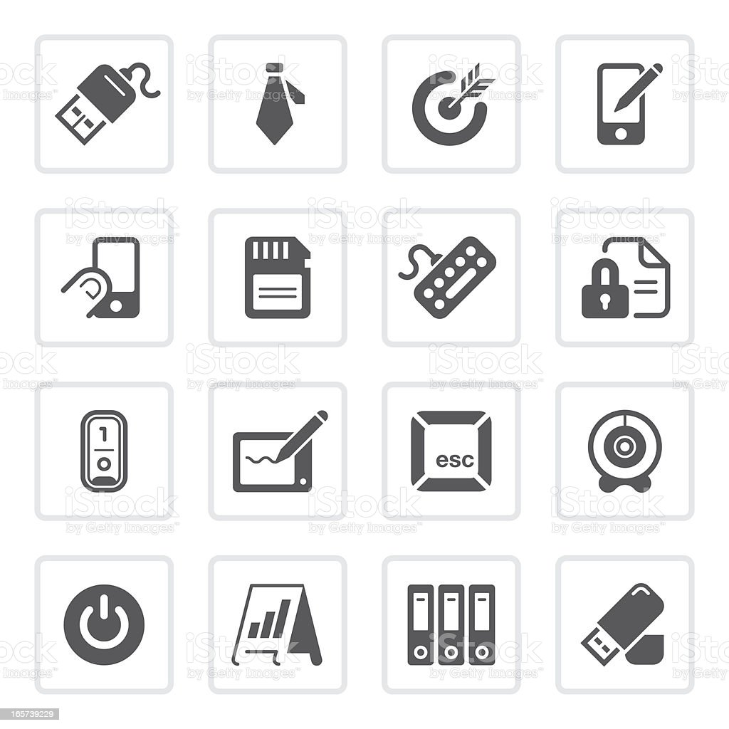 Office & technology icons  | prime series royalty-free office technology icons prime series stock vector art & more images of bar graph