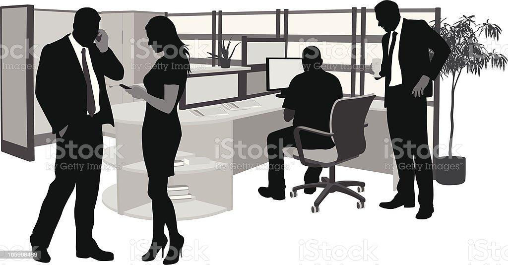 Office Text Vector Silhouette vector art illustration