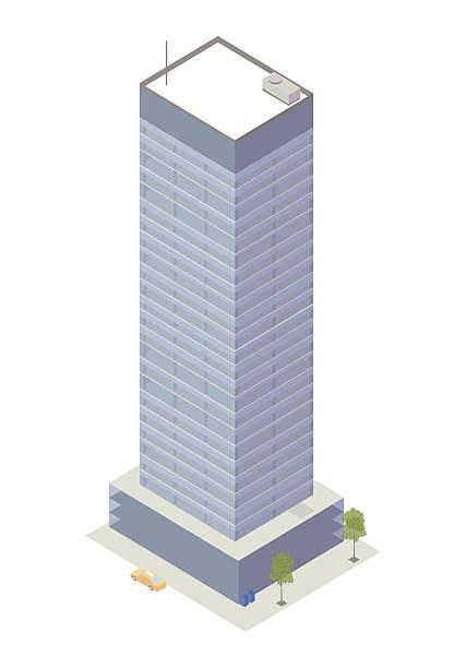 Office tower isometric illustration vector art illustration