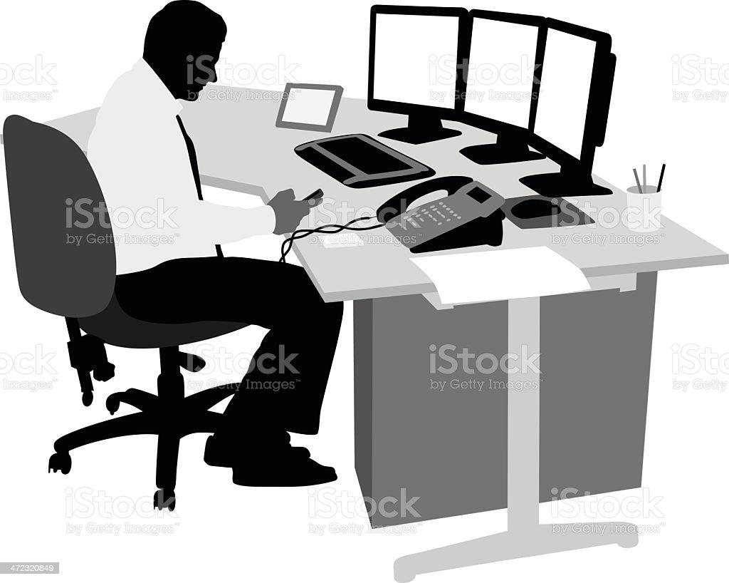 Office Txt vector art illustration