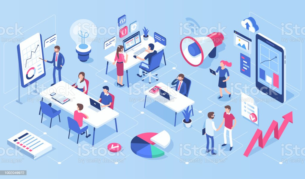 office royalty-free office stock illustration - download image now