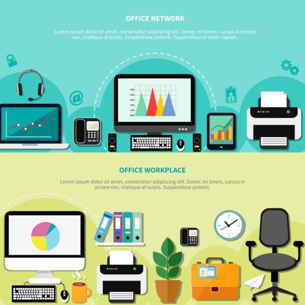 büro - stiftehalter stock-grafiken, -clipart, -cartoons und -symbole