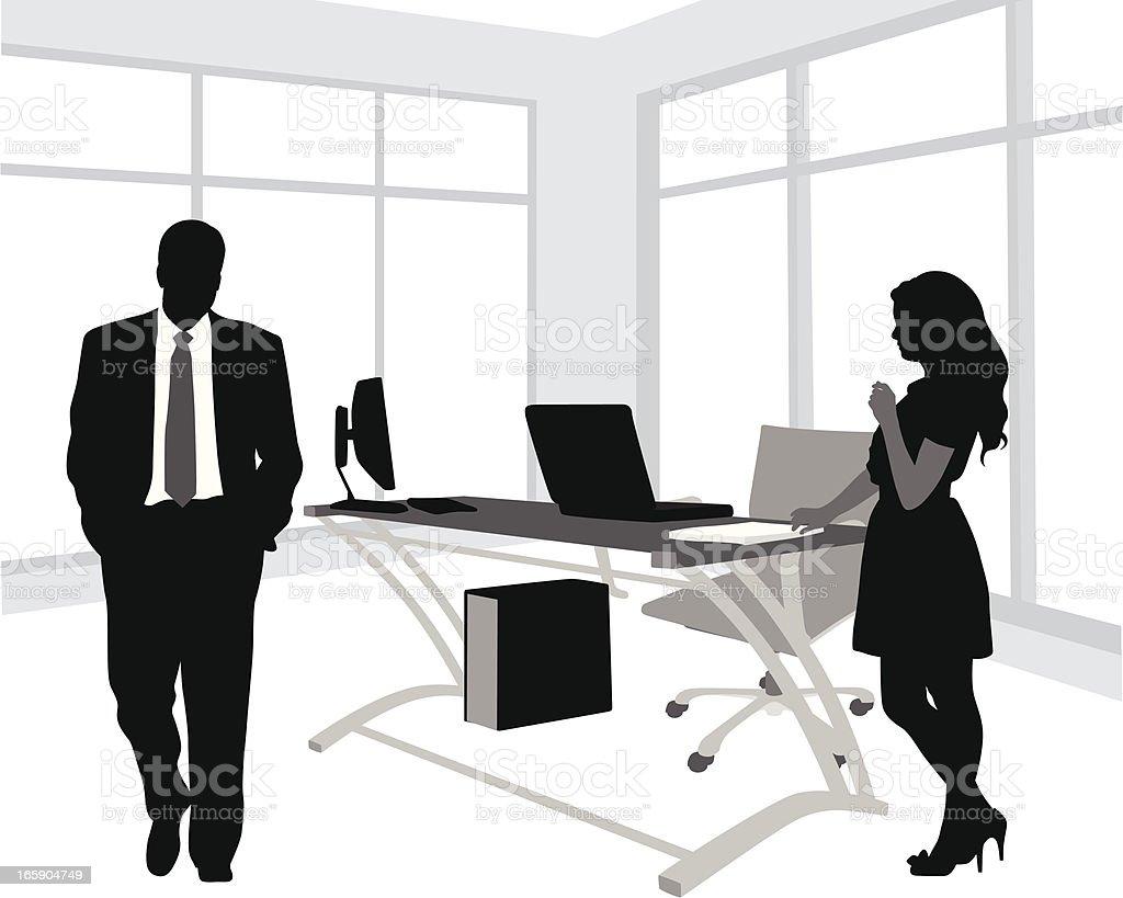 Office Vector Silhouette vector art illustration