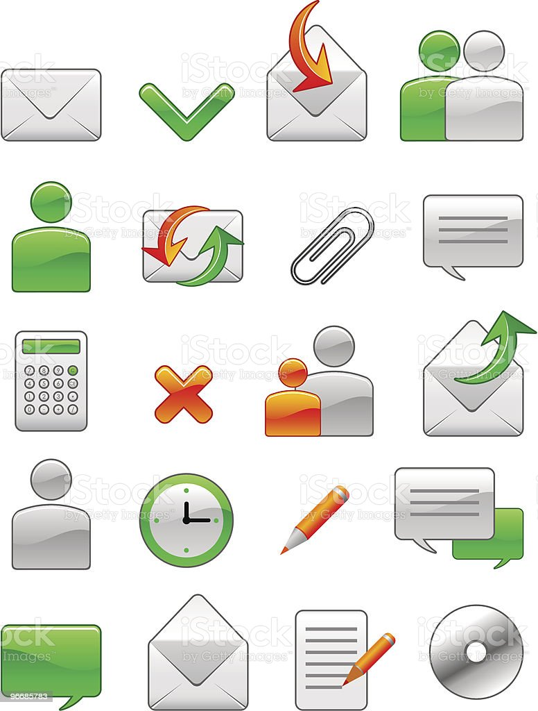 Office web icon royalty-free stock vector art
