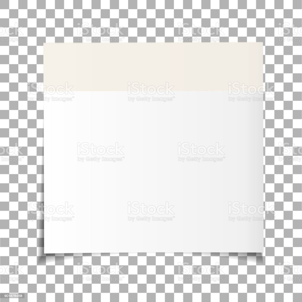 office white paper sticky note isolated on transparent background