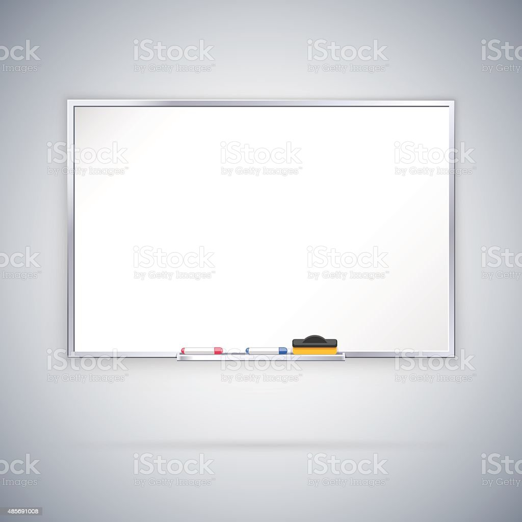 Office Whiteboard vector art illustration