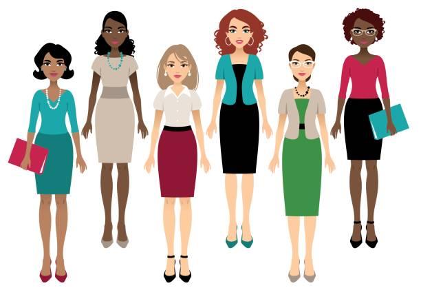 office women - professional women stock illustrations, clip art, cartoons, & icons