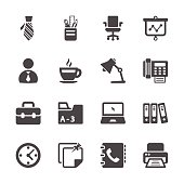 office work icon set, vector eps10.
