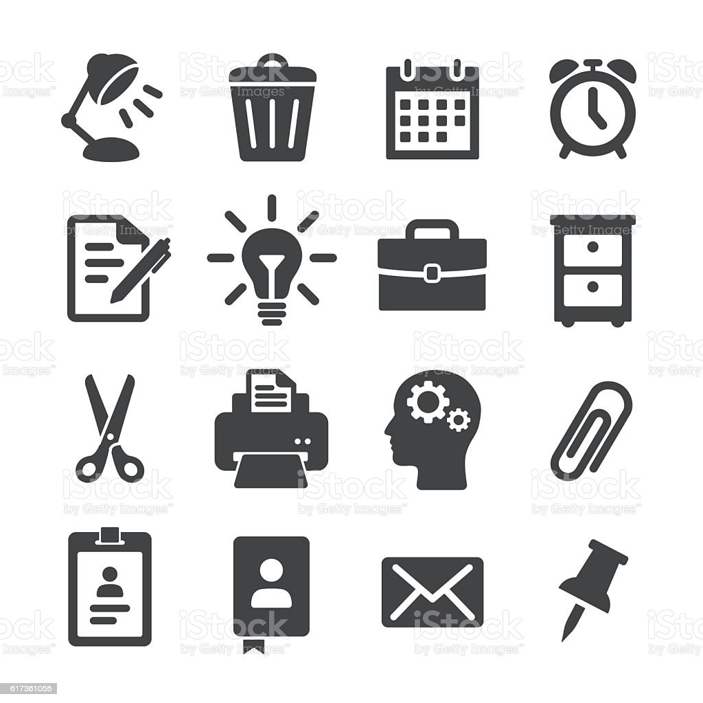 Office Work Icons - Acme Series vector art illustration