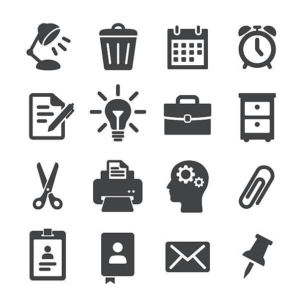 Office Work Icons - Acme Series vector art illustration