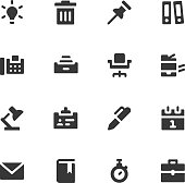Office work icons - Bold