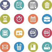 Office Work Icons - Circle Series