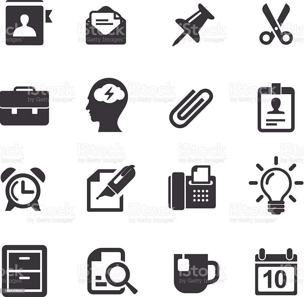 Office Work Icons-Acme Series royalty-free stock vector art