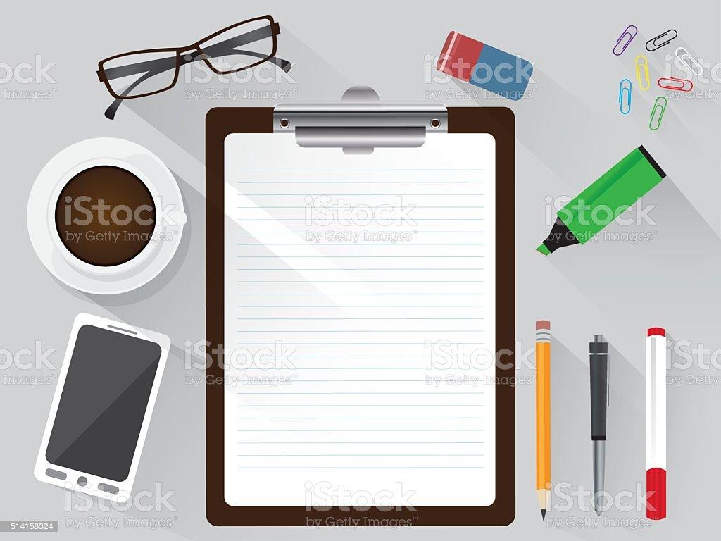 Lugar de trabajo de oficina con portapapeles tel fono for Oficina de empleo telefono informacion