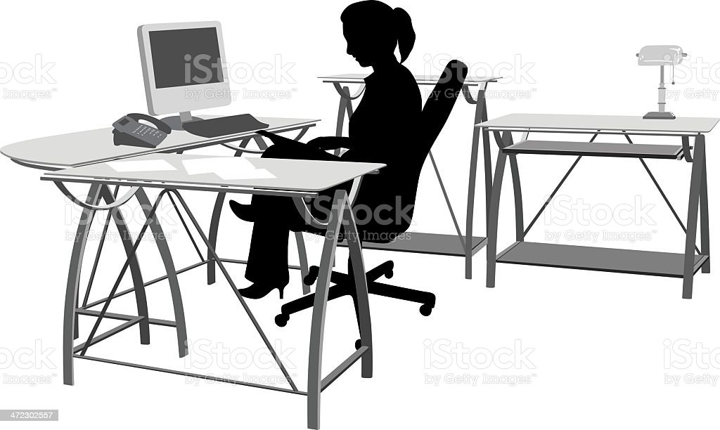 Office Work royalty-free stock vector art