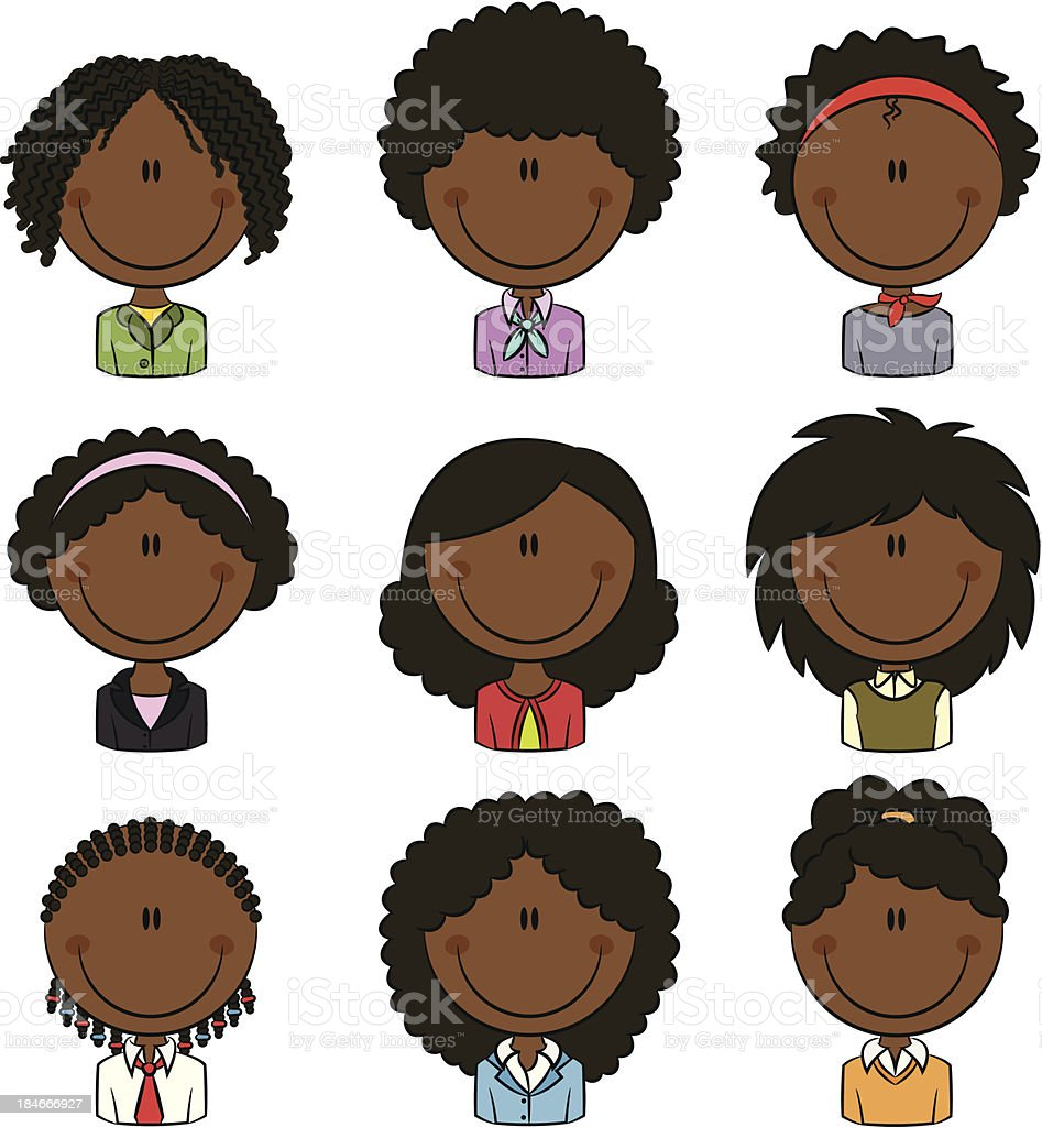 Office Worker African-American Female Avatar royalty-free stock vector art
