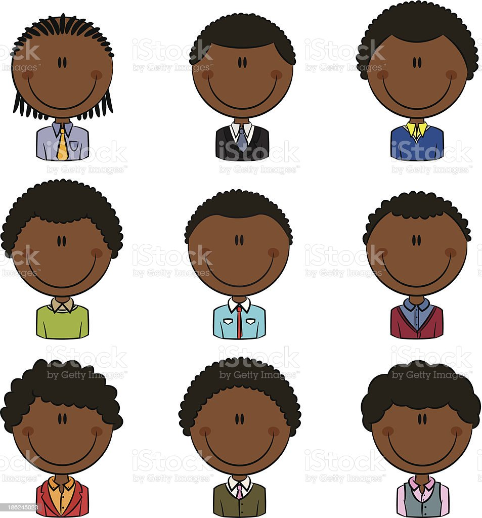 Office Worker African-American Male Avatar royalty-free office worker africanamerican male avatar stock vector art & more images of active seniors