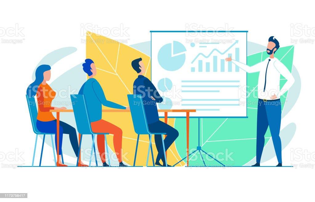 Büroangestelltes Seminar für neue Auszubildende - Lizenzfrei Arbeitspersonal Vektorgrafik