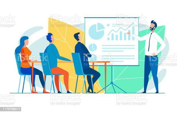 Büroangestelltes Seminar Für Neue Auszubildende Stock Vektor Art und mehr Bilder von Arbeitspersonal