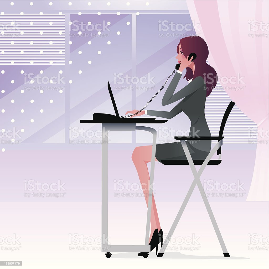 Office Worker royalty-free stock vector art