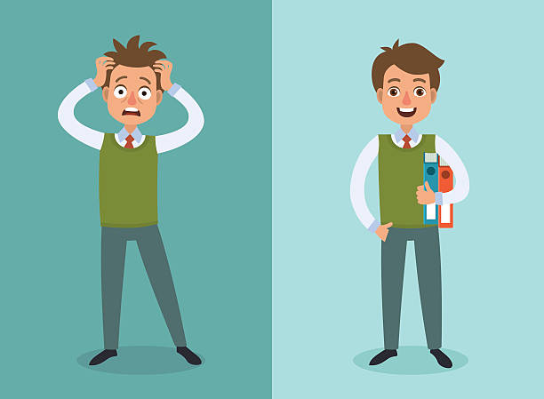 office worker - stress stock illustrations, clip art, cartoons, & icons