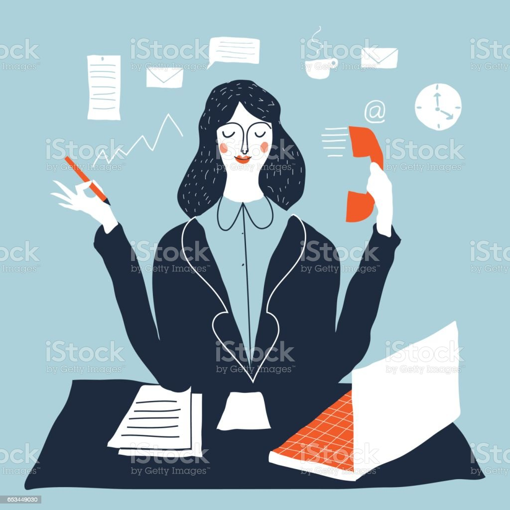 Büroberuf Lizenzfreies büroberuf stock vektor art und mehr bilder von anzug